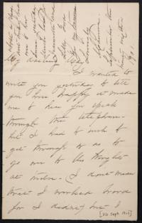 Mary Augusta (Ferris) Woolley autograph letter signed to Mary Emma Woolley, 1901 September 26