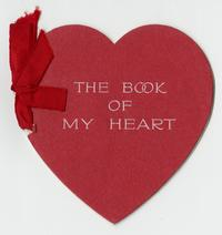 "Valentine's Day card belonging to Cornelia Clapp, ""The Book of My Heart"""