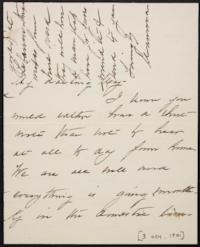 Mary Augusta (Ferris) Woolley autograph letter signed to Mary Emma Woolley, 1901 October 3