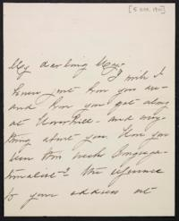 Mary Augusta (Ferris) Woolley autograph letter signed to Mary Emma Woolley, 1901 October 5