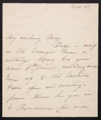 Mary Augusta (Ferris) Woolley autograph letter signed to Mary Emma Woolley, 1901 October 6