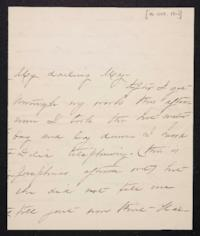Mary Augusta (Ferris) Woolley autograph letter signed to Mary Emma Woolley, 1901 October 16