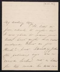 Mary Augusta (Ferris) Woolley autograph letter signed to Mary Emma Woolley, 1901 October 18