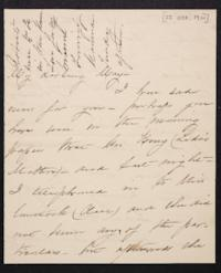 Mary Augusta (Ferris) Woolley autograph letter signed to Mary Emma Woolley, 1901 October 22