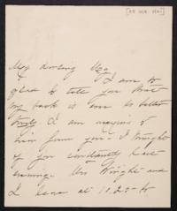 Mary Augusta (Ferris) Woolley autograph letter signed to Mary Emma Woolley, 1901 October 25