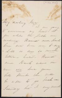Mary Augusta (Ferris) Woolley autograph letter signed to Mary Emma Woolley, 1902 February 9