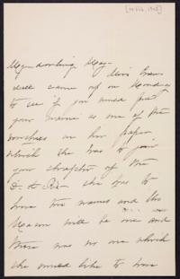 Mary Augusta (Ferris) Woolley autograph letter signed to Mary Emma Woolley, 1902 February 14