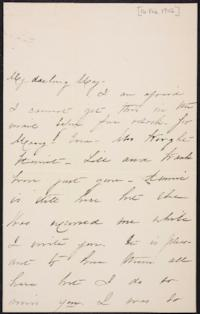 Mary Augusta (Ferris) Woolley autograph letter signed to Mary Emma Woolley, 1902 February 16