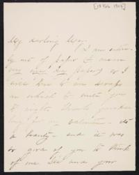 Mary Augusta (Ferris) Woolley autograph letter signed to Mary Emma Woolley, 1902 February 18