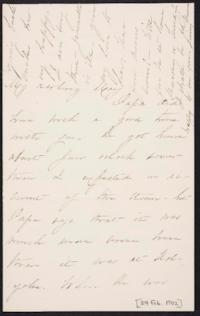 Mary Augusta (Ferris) Woolley autograph letter signed to Mary Emma Woolley, 1902 February 24