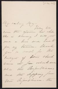 Mary Augusta (Ferris) Woolley autograph letter signed to Mary Emma Woolley, 1902 February 27