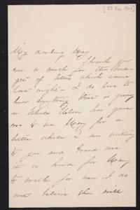 Mary Augusta (Ferris) Woolley autograph letter signed to Mary Emma Woolley, 1902 February 28