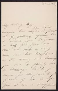 Mary Augusta (Ferris) Woolley autograph letter signed to Mary Emma Woolley, 1902 March 6