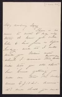 Mary Augusta (Ferris) Woolley autograph letter signed to Mary Emma Woolley, 1902 March 7