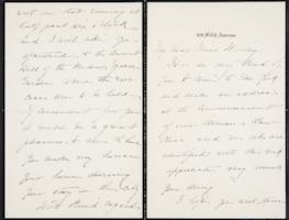 Helen Miller Gould Shephard autograph letter signed to Mary Emma Woolley, 1902 March 21