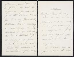 Helen Miller Gould Shephard autograph letter signed to Mary Emma Woolley, 1902 March 24
