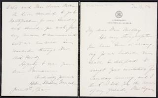 Helen Miller Gould Shephard autograph letter signed to Mary Emma Woolley, 1902 June 13