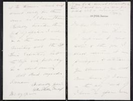 Helen Miller Gould Shephard autograph letter signed to Mary Emma Woolley, 1902 November 27