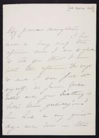 Mary Augusta (Ferris) Woolley autograph letter signed to Mary Emma Woolley, 1903 February 23