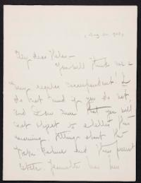Mary Emma Woolley autograph letter signed to Helen P. Young, 1903 August 26
