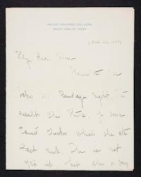 Mary Emma Woolley autograph letter signed to Helen P. Young, 1904 February 23