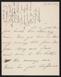 Mary Augusta (Ferris) Woolley autograph letter signed to Mary Emma Woolley, 1904 May 26