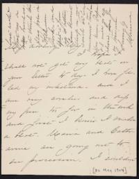 Mary Augusta (Ferris) Woolley autograph letter signed to Mary Emma Woolley, 1904 May 30