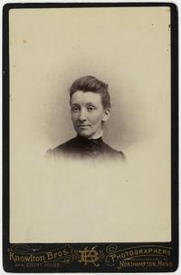Bust-length portrait of Cornelia Clapp