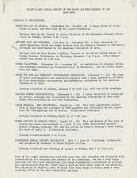 Thirty-First Annual Report of the Mount Holyoke Friends of Art, 1961-1962