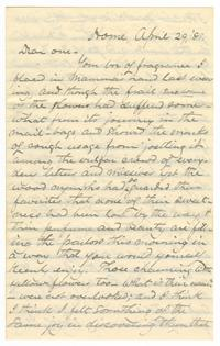 Letter from Amos Edward Lawrence and Lucy Watson Davis to Elizabeth Crocker Lawrence