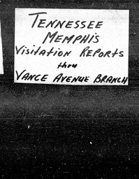 Tennessee YWCA of the U.S.A. records, Record Group 11. Microfilmed central files