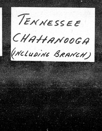 Tennessee YWCA of the U.S.A. records, Record Group 11. Microfilmed headquarters files