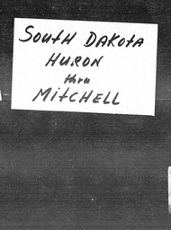 South Dakota YWCA of the U.S.A. records, Record Group 11. Microfilmed central files