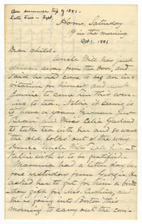 Letter from Amos Edward Lawrence to Elizabeth Crocker Lawrence