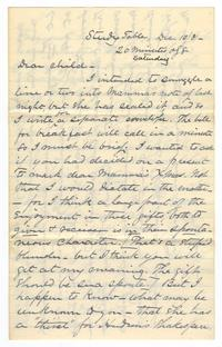 Letter from Amos Edward Lawrence to Elizabeth Crocker Lawrence