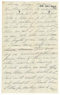 Letter from Lucy Watson Davis to Elizabeth Crocker Lawrence
