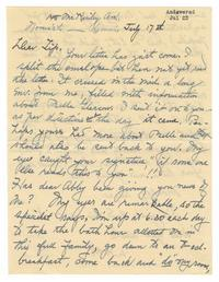 Letter from Louise Woodward Haskell to Elizabeth Crocker Lawrence
