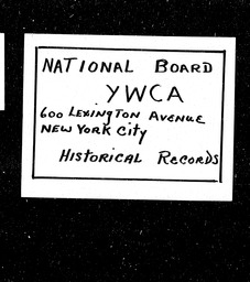 New Jersey YWCA of the U.S.A. records, Record Group 11. Microfilmed central files