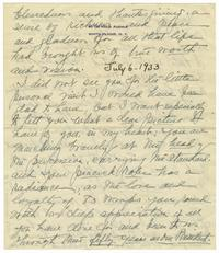 Letter from Ida W. Tracy to Elizabeth Crocker Lawrence