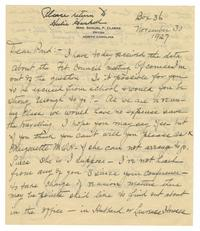 Letter from Elizabeth Crocker Lawrence to Louise Woodward Haskell