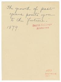 Birthday card to Elizabeth Crocker Lawrence