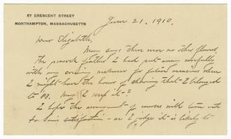 Letter from John Tappan Stoddard (1852-1919) to Elizabeth Crocker Lawrence Clarke