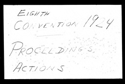 Conventions, eighth YWCA of the U.S.A. records, Record Group 11. Microfilmed central files