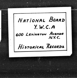 Florida YWCA of the U.S.A. records, Record Group 11. Microfilmed central files