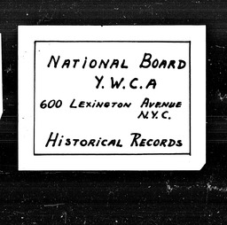 Connecticut YWCA of the U.S.A. records, Record Group 11. Microfilmed central files
