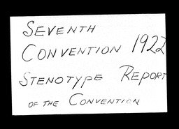 Conventions, seventh YWCA of the U.S.A. records, Record Group 11. Microfilmed headquarters files
