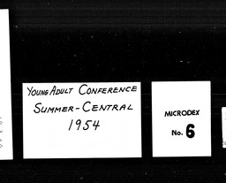 Young adult conferences YWCA of the U.S.A. records, Record Group 11. Microfilmed central files