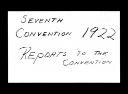 Conventions, seventh YWCA of the U.S.A. records, Record Group 11. Microfilmed central files