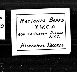 Teenage conferences YWCA of the U.S.A. records, Record Group 11. Microfilmed central files