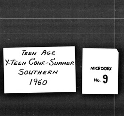Teenage conferences YWCA of the U.S.A. records, Record Group 11. Microfilmed headquarters files